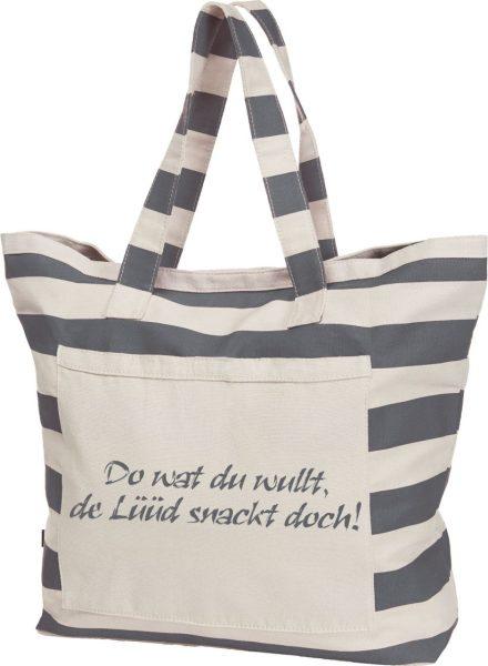 Streifen-Strandtasche Shopper maritim de Lüüd schnack