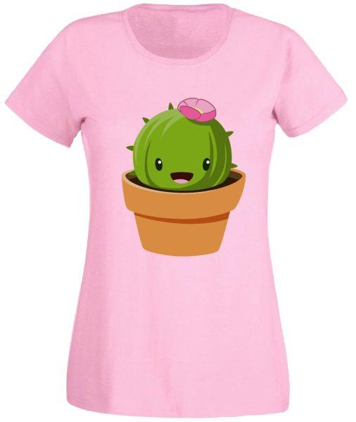 Damen T-Shirt Blumenkaktus