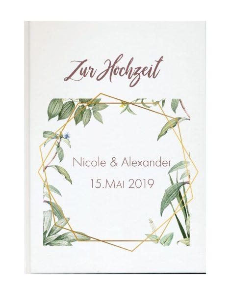 Personalisiertes Gästebuch für Ihre Hochzeit (Motiv 06)