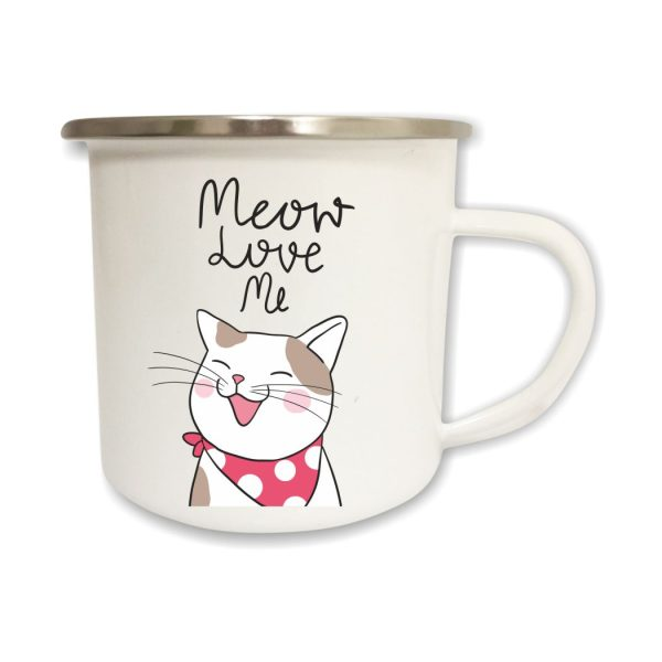 Emailletasse Meow Love Me