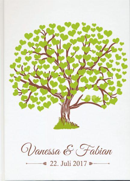 Personalisiertes Gästebuch für Ihre Hochzeit (Motiv 57)