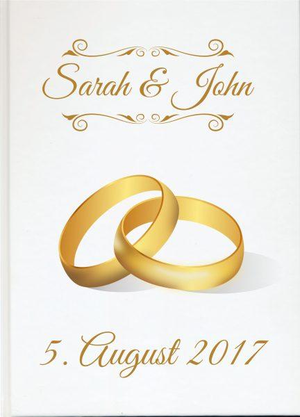 Personalisiertes Gästebuch für Ihre Hochzeit (Motiv 51)