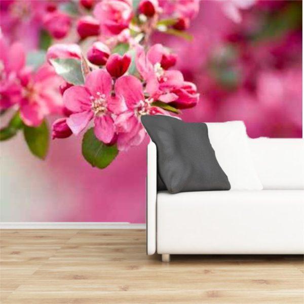 Fototapete Holzapfelblüte selbsklebend - bestehend aus 3 Bahnen