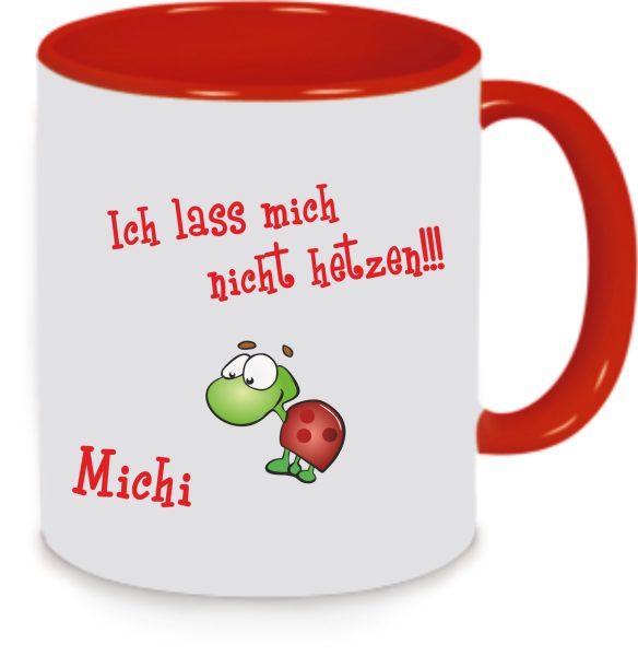 Keramiktasse Tasse Kaffee Tee Becher Turtle Schildkröte Ich lass mich nicht hetzen!