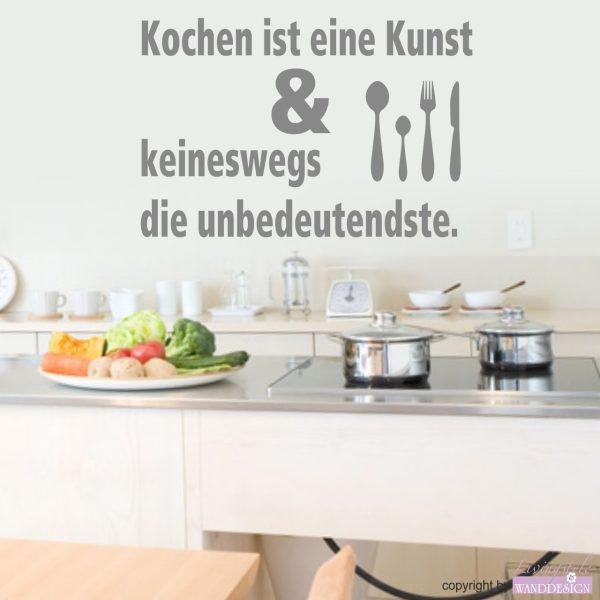 """Wandtattoo Spruch """"Kochen ist eine Kunst..."""""""