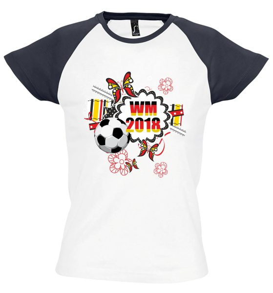 Damen T-Shirt WM 2018 Motiv 3 Flower