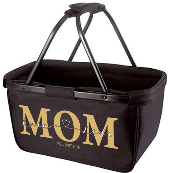 Einkaufskorb Korb mit Name und MOM