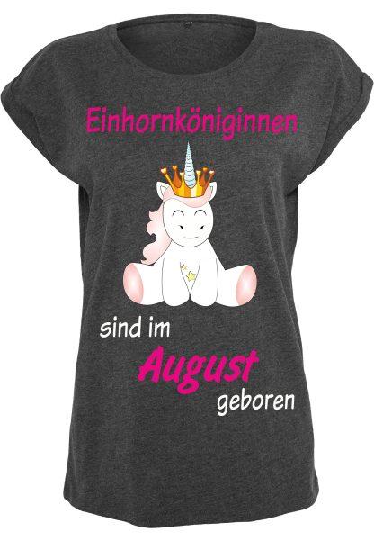 Damen T-Shirt Extended Shoulder Tee Einhorn Cutie Einhornköniginnen sind geboren
