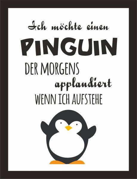 Kunstdruck Pinguin