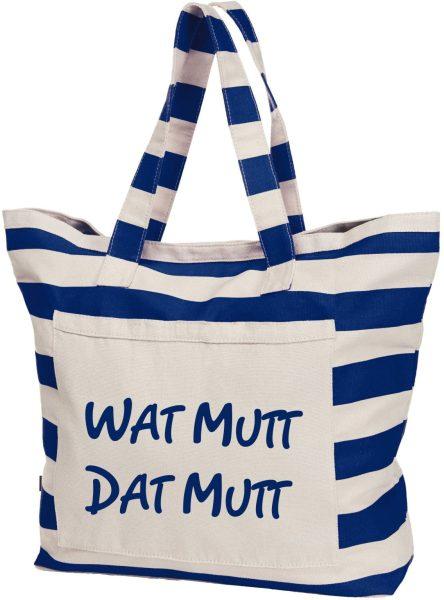 Streifen-Strandtasche Shopper maritim Watt mutt
