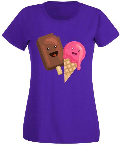 Damen T-Shirt Eis