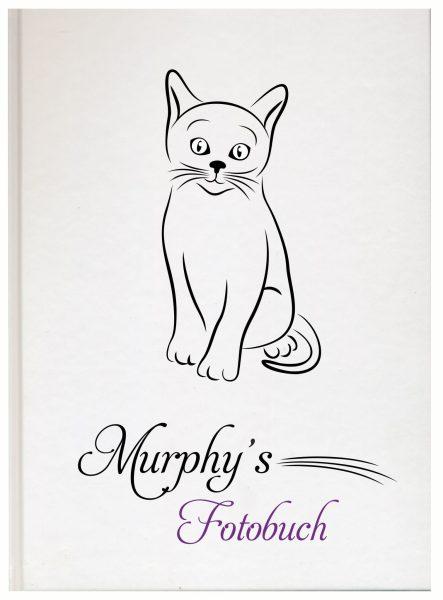 Fotoalbum für Tiere Katze Silhouette