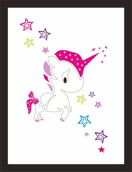 Kunstdruck Unicorn funny